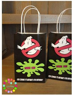 Ghost Busters treat bags  Ghost busters party