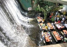 How epic is this waterfall Grill restaurant in my country, the Phillipines?!