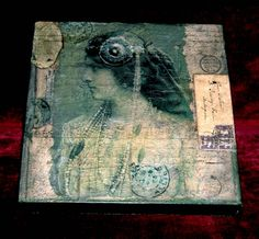 Mixed media collage on canvas - canvas ideas