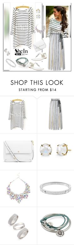 """""""CONTEST-Striped Loose T-Shirt"""" by ilona-828 ❤ liked on Polyvore featuring White Label, Proenza Schouler, Tory Burch, Michael Kors, Topshop, women's clothing, women, female, woman and misses"""
