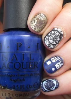 Adventures In Acetone: Doctor Who Nail Art: Time For Twelve!