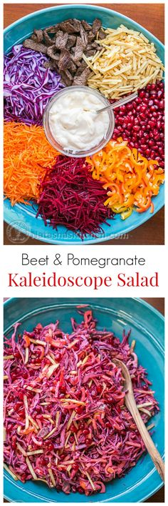 Beet and Pomegranate Kaleidoscope Salad - beautiful and scrumptious! @natashaskitchen