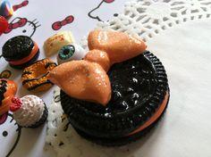 Kawaii Lolita Polymer Clay Halloween Cookie by SpookySweethearts