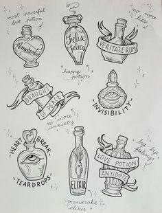 Harry Potter Love Potion, Magia Harry Potter, Harry Potter Sketch, Harry Potter Journal, Harry Potter Poster, Harry Potter Artwork, Harry Potter Decor, Harry Potter Drawings, Harry Potter Tattoos