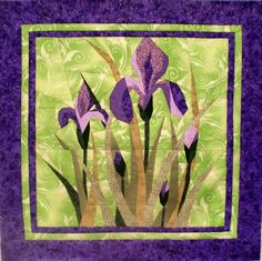 Bearded Iris foundation pieced quilt