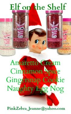 "Pink Zebra Custom Scent ELF ON THE SHELF Oh that naughty elf! Now there is a little ""elf"" for you to enjoy too! email me for a sample sizzling.P.zebra@gmail.com Www.pinkzebrahome.com / HopeMyers"