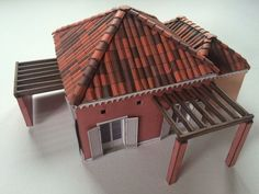 A Southern Europe House Free Building Paper Model Download