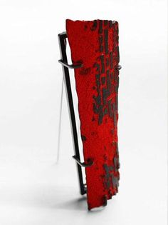Han-Chieh Chuang, Red Brick brooch 02, 2013, brooch, silver, copper, enamel, steel, 95x50x45 mm, , photo: Han-Chieh Chuang