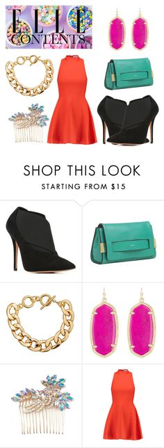 """""""·ELLE·CONTENTS·COLOR·FULL49"""" by ferdelosh ❤ liked on Polyvore featuring Jean-Michel Cazabat, Chloé, Kendra Scott, Elle and Elizabeth and James"""
