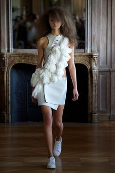 Anne Sofie Madsen Spring Summer 2015 pompom dress