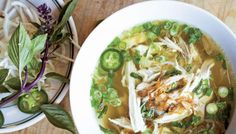 Pho Ga (Chicken Noodle Soup) | The Splendid Table - What's happening with this week's CSA chicken