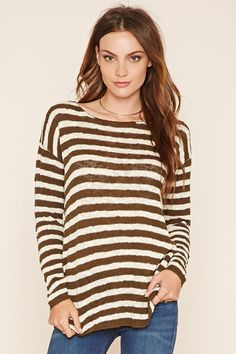 Contemporary Striped Sweater | Forever 21 - 2000221330