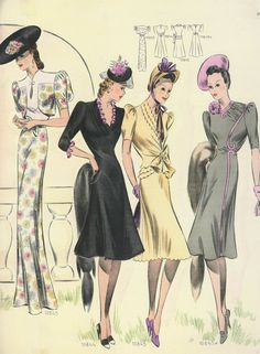 1940s French fashion plate