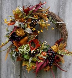 Fall Wreath, Tuscany Décor, Autumn Wreaths, Woodland, Thanksgiving, Harvest, Floral Wreath, Elegant Holiday Wreath