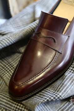 Fashion Uomini Shoes Bespoke - Corno blu Penny Loafers via Coccinella BOTTEGA del SARTO, Bespoke Salon Osaka Japan