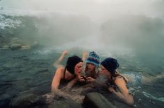 thermal spring near Gardiner, Montana