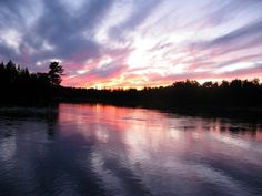 The best place to have a lovers' quarrel? Maine. By dusk, despite your recalcitrance,, you'll peer out the window and simply want the standoff to be over. Pictured: The St Croix River at dusk.