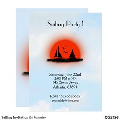 Sailing Invitation #