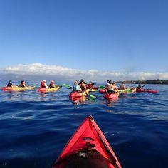 A group kayak/snorkel tour heading out in Makena! #mkakayak