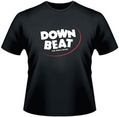 DownBeat's New Retro t-shirts. Softstyle, preshrunk, super comfy. Get one today. 3 colors available, Blue, Black, and Charcoal Gray.