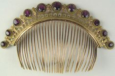 Amethyst Empire Comb that sold for $458 on E-bay because the seller did not know what he had.