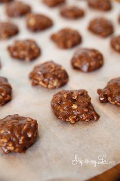 Chocolate No-Bake Cookies {Gluten Free}