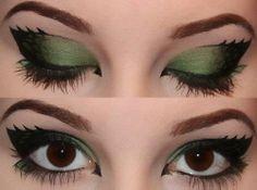 dragon eye make-up Eyeshadow Makeup, Makeup Art, Beauty Makeup, Eyeliner, Hair Makeup, Makeup Ideas, Pixie Makeup, Maybelline Eyeshadow, Fun Makeup