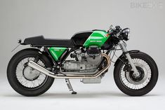 This is Kaffeemaschine #9, based on a 1978 Moto Guzzi 1000 SP. Hamburg-based Axel Budde has stripped the bike back to the essentials and rebuilt everything...from BikeExif