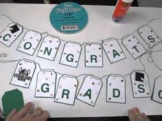 Graduation Banner featuring Spellbinders Celebrations Dies