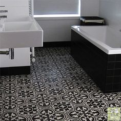 Basement Bathroom Ideas On Budget, Low Ceiling and For Small Space! Black And White Bathroom Floor, Black And White Carpet, White Bathroom Tiles, Bathroom Floor Tiles, Tile Floor, Bathroom Wall, Small Basement Bathroom, Small Bathroom Layout, Modern Bathroom Design
