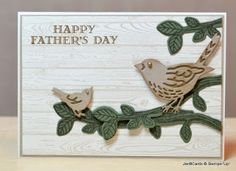 JanB Handmade Cards Atelier: Best Birds Fathers Day Card