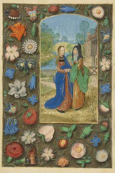 The Visitation, Master of the Dresden Prayer Book or workshop, Bruges, ca. 1480-85? - Ms. 23, fol. 71v