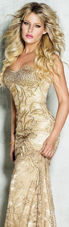 Gold Sequined Gown- found at Brittany Elizabeth bb15e6002
