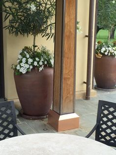Copper Base Trim by Gulley Metal Services, Inc. Custom Metal Fabrication, Base Trim, Denver, Planter Pots, Copper, Outdoors, Plants, Outdoor, Brass