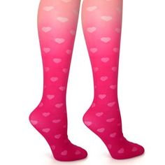Hearts Ombre Tights #littlemissmatched