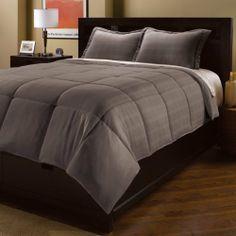 Aeolus Down Full/Queen Microfiber Dobby Plaid Comforter Mini Set, Smoked Pearl by Aeolus Down, http://www.amazon.com/dp/B0052WBGT0/ref=cm_sw_r_pi_dp_wTuqrb1MJ2XTB