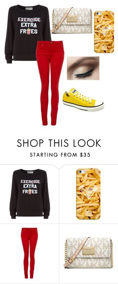 """""""Fries"""" by andreina02 ❤ liked on Polyvore featuring Wildfox, Casetify, Paige Denim, Converse and MICHAEL Michael Kors"""