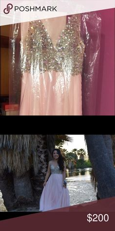 Light pink prom dress It's a small/med I'm 5'3 and the length was perfect Dresses Prom