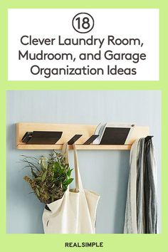 Conquer the clutter chaos in the mudroom, laundry room, and garage with these easy organization ideas, especially when you need heavy-duty storage solutions. Planner Organization, Garage Organization, Organization Ideas, Storage Ideas, Mudroom Laundry Room, Smart Storage, Declutter, Storage Solutions, Cleaning Hacks