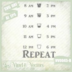 VV0045-B Commercial Use SVG & DXF cut ready file Inspirational water bottle timeline repeat #SVG file for your #Cricut or #Silhouette machines