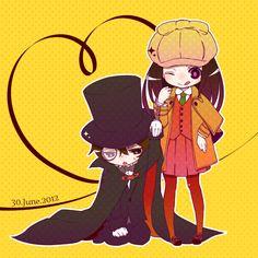 Chitanda Eru & Oreki Houtarou (Pixiv Id 4569315) | Hyouka #anime #chibi
