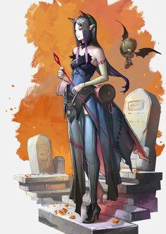 awesomedigitalart:  Witch:Undeath by Readman