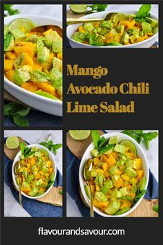 Sweet with heat! Freshly squeezed lime juice, chili powder and sea salt season mango and avocado in a healthy salad. Whole30, Paleo and Vegan. This one will knock your socks off!
