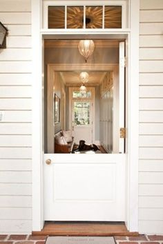 Oh to live in a climate where a charming Dutch door could be open more than 6 days a year!