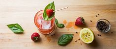 Learn how to make a smashing strawberry cocktail with a peppery kick.
