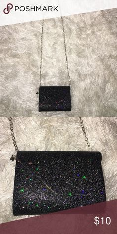 Charming Charlie Small Sparkly Clutch Lightly used small purse from charming charlie, no trades Charming Charlie Bags Clutches & Wristlets