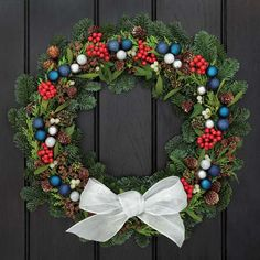 Use evergreen holly and ivy for Christmas decorating ideas, and then expand those designs to the rest of the year.