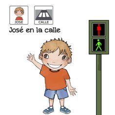 José en la calle  Cuento con pictogramas donde José aprende en la calle. Descubre más cuentos en www.aprendicesvisuales.com