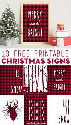 13 Free Printable Buffalo Plaid Christmas Signs Lovely Planner : 13 free printable Christmas signs with a lovely Buffalo plaid pattern to add to your rustic Christmas decor. Mix & match them for a great Christmas wall art. Christmas Wall Art, Noel Christmas, Christmas Signs, Christmas Balls, Christmas Projects, Christmas Wreaths, Christmas Wall Decorations, Buffalo Plaid Christmas Ornaments, Buffalo Check Christmas Decor