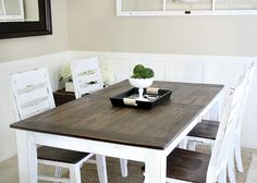 The tutorial I need! Turn an existing table into a farmhouse table. Diy